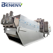 CE MARK screw press dewatering machine used in effluent treatment plant