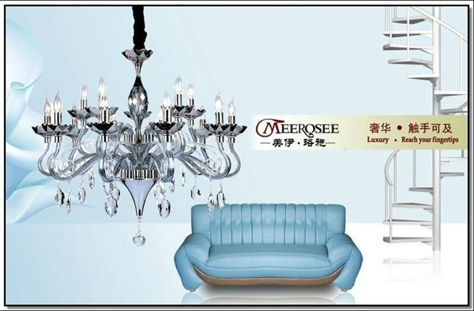 water blue pendant lamp/murano chandelier in modern style for Buckingham Palace/White House, Meerosee Lighting