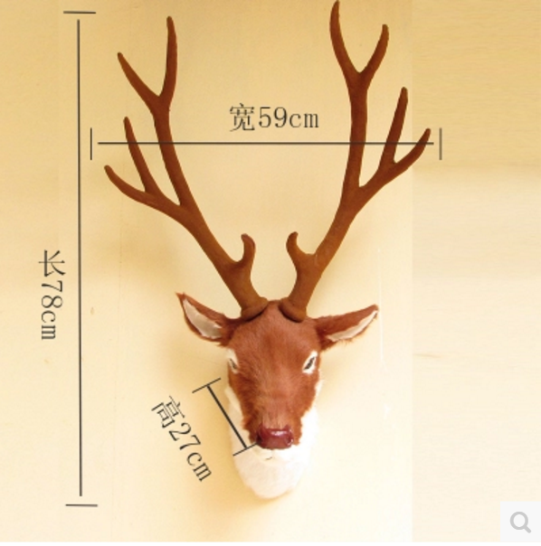 synthetic decor home decorative stag head wall mount