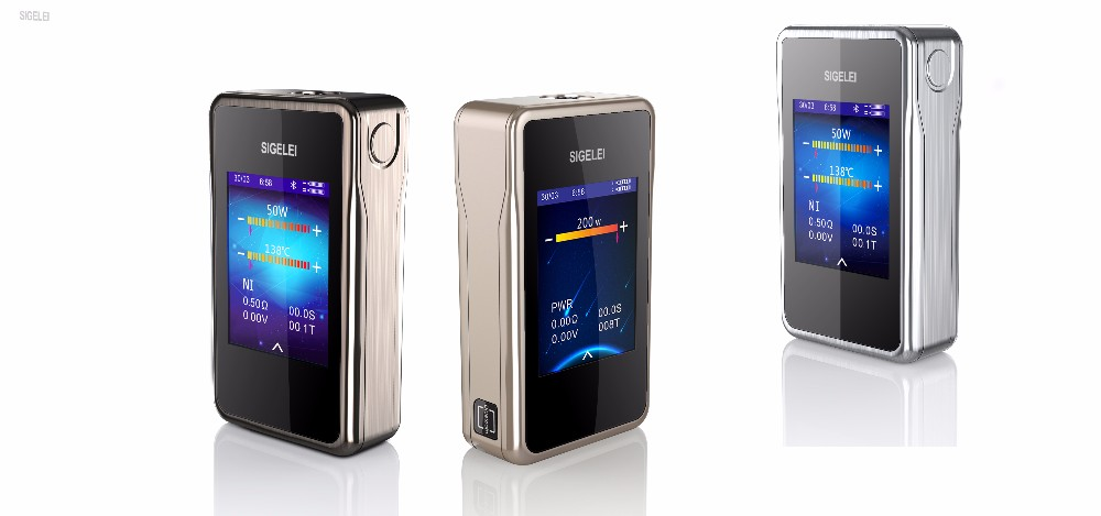 Sigelei T200 Box Mod - Touch Screen With HD TFT Screen