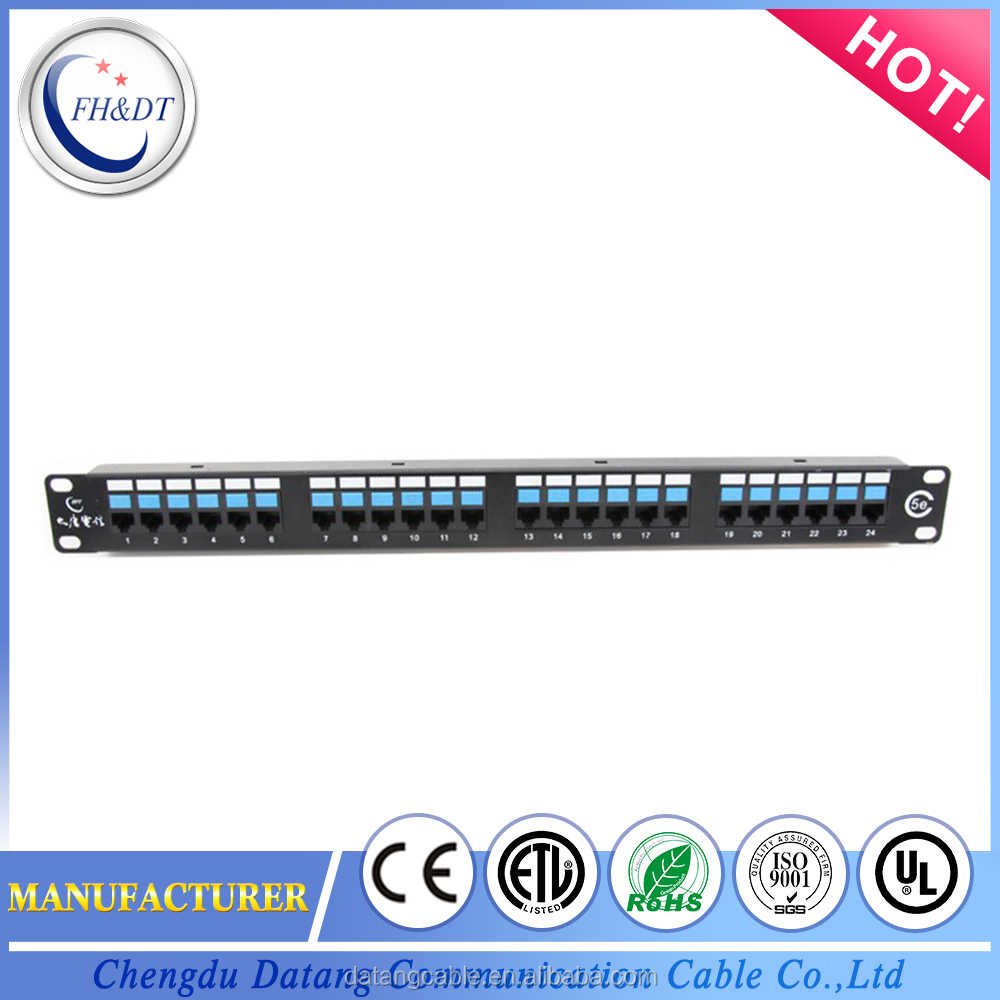 Factory price unshielded cat5e patch panel in communication system