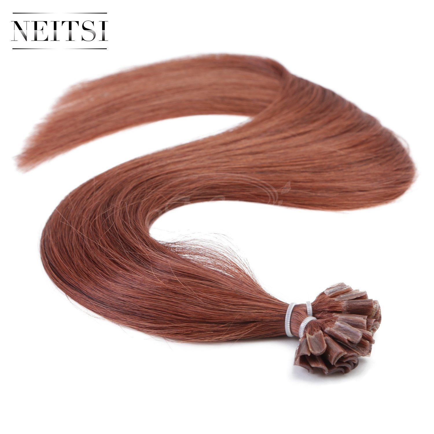 "Neitsi 20"" 25s/lot 1g/s 100% Remy Human Hair Nail U Tip Hair Extension (33#)"