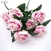IFG HOT sale rose artificial flower 9heads rose bouquet decorations wedding