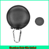 Black eva earphone case,round eva case bag with carabiner