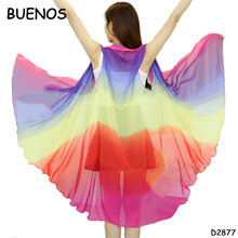 Summer Rainbow Women Fashion Flower Print Silk Pashmina Chiffon Scarf