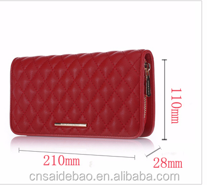 New Wholesale multipurpose leather lady wallets/ long wallet for phone