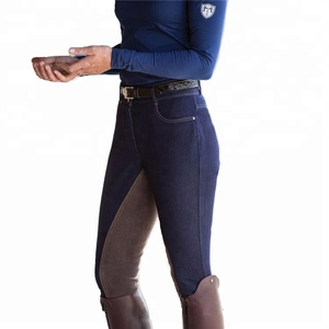 Royal wolf equestrian manufacturers ladies horse riding breeches jodhpurs denim full seat riding breeches