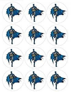Single Source Party Supply - Batman Cupcakes Edible Icing Image #3
