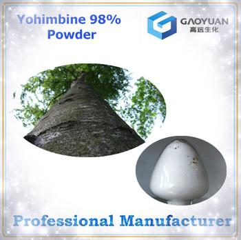 Made in china organic and natural Yohimbine powder 98%