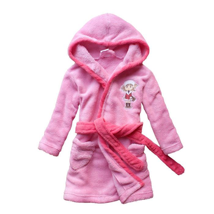 Get Quotations · New Coral Fleece Hooded Girls Robes Sleepwear Bathrobe  bath towel Kids Winter Pajamas Free Shipping 348d578bd