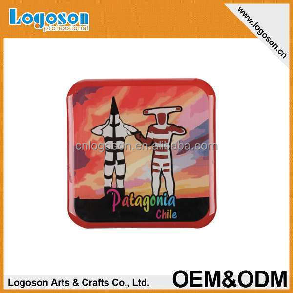 2015 newest design paper printing with epoxy fridge magnet