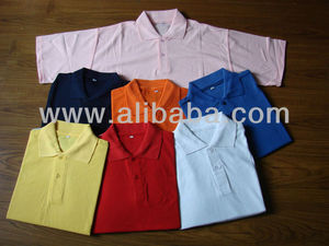 MENS COTTON PIQUE POLO T-SHIRTS WITH EMBROIDERY