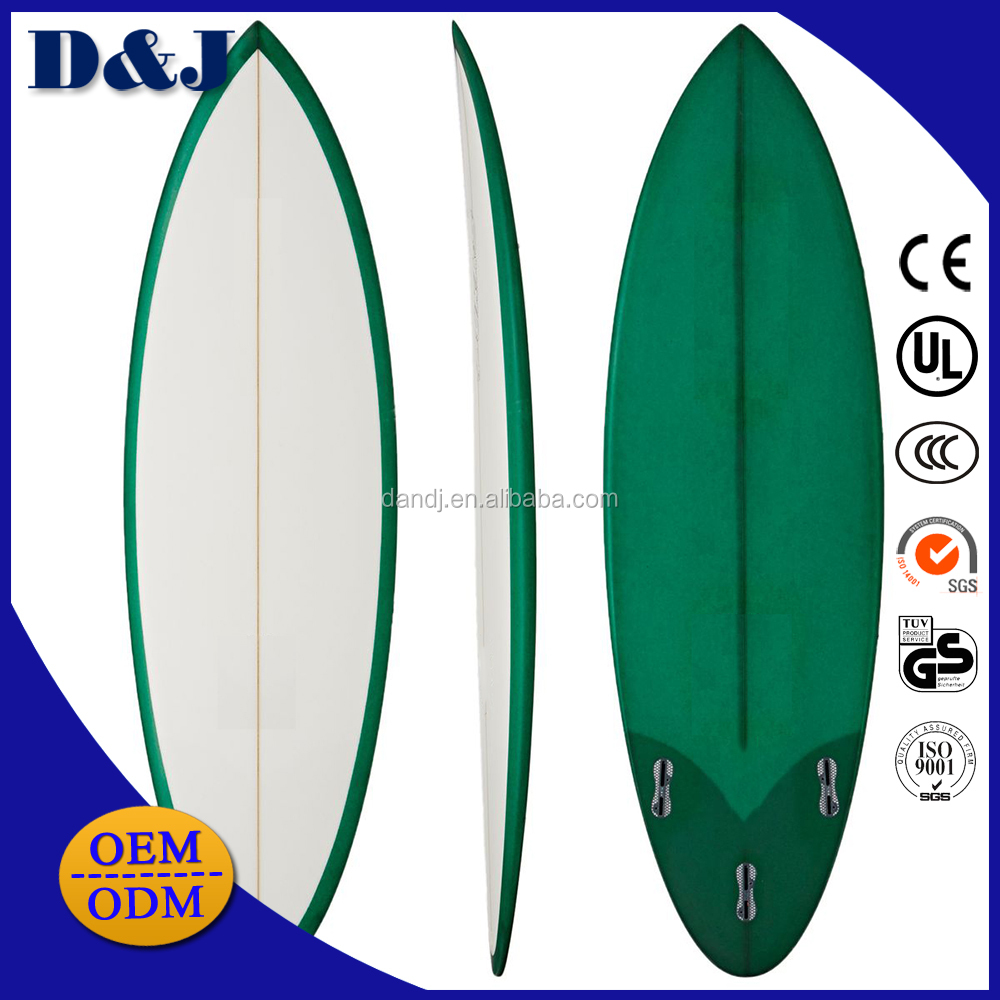 High Quality Surfboards With Leash Plug Nose Reinforcement On Water Surfing