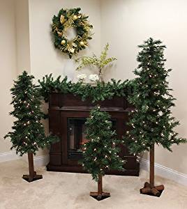 get quotations northlight 3 ft 5 and 6 in pre lit woodland alpine artificial