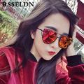 RSSELDN New Fashion Cat Eye Sunglasses Women Classic Brand Designer Twin Beams Sunglasses UV400 Coating Mirror