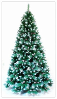 snowing christmas treesnow effect 210cm height fake tree for office decoration - Snowing Christmas Decoration