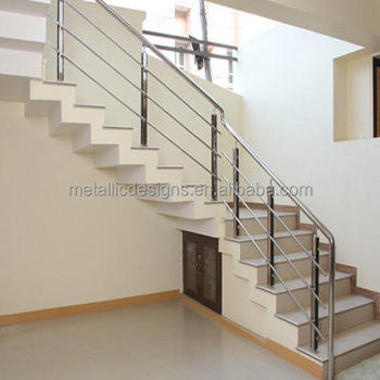 Interior floor mounted stainless steel stair railing handrails buy steel handrails for stairs for Stainless steel railings interior