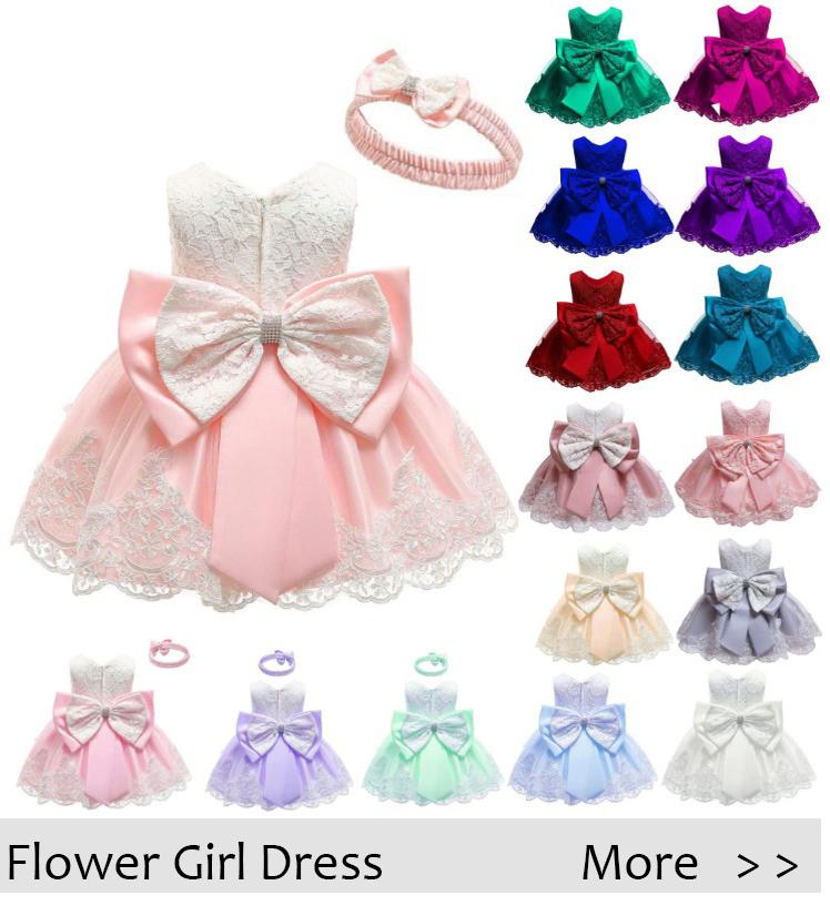 Vente en gros nouveau modèle fille robe nœud papillon petite fleur fille robe Offre Spéciale dernière robe de soirée florale fille