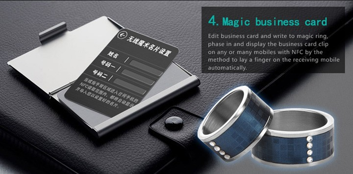 Smart ring-1 Smart magic ring for mobile phone with NFC