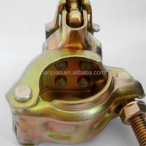 aluminum scaffold fixed or swivel couplers/pipe swivel clamp
