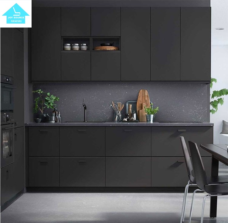 2017top Quality Black Melamine Kitchen Cabinet Design - Buy Modern Kitchen  Cabinets,Laminate Kitchen Cabinet,Kitchen Cabinets Design Product on ...