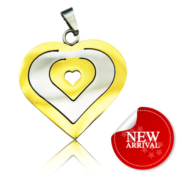 Mexican Style Gold Heart Pendant Necklace