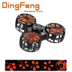 Best Popular Upgrade Flying Fidget Spinner F1Plus Light Spinner Toy Halloween Special Pumpkin & Owl & Skull