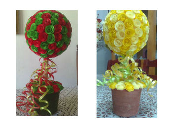 hand made paper quilling flower decorations