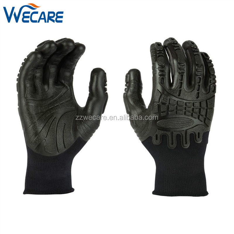 Pro Palm Knuckler Protection Impact Grip Injection Technology Performance Work Gloves