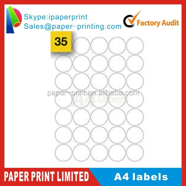 image about Removable Printable Labels called Personalize Printable Spherical Detachable Labels (37mm) A4 Labels - Obtain Custom-made A4 Sticker Label,Spherical Variety Tags,Paper Pe Pvc Pearly Motion picture Battery