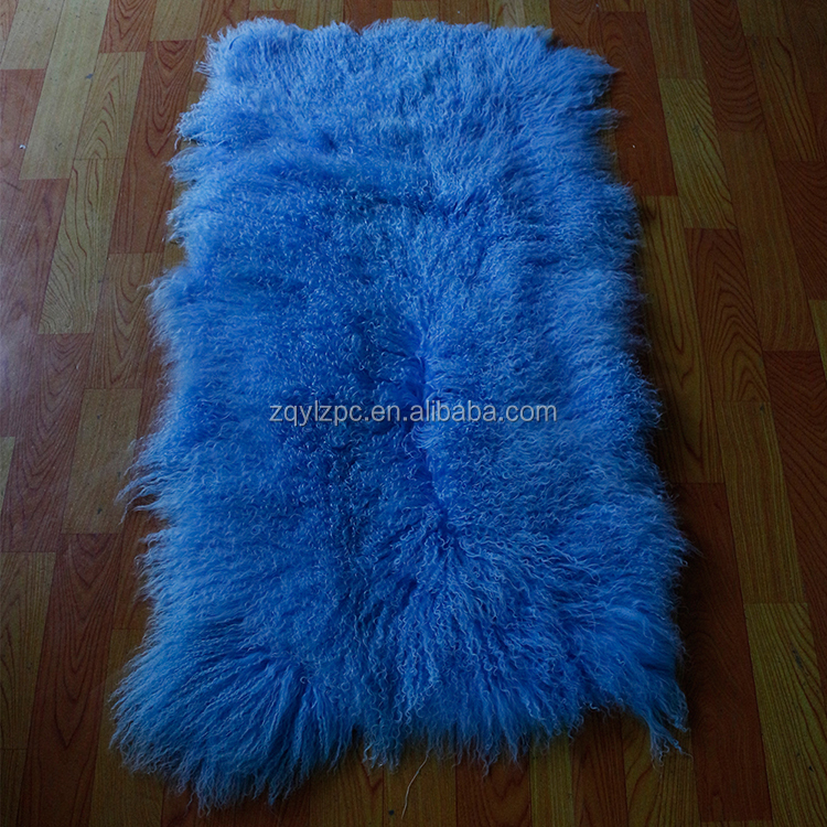 Garment and Home Textile Use Top Quality long curly tibetan lamb Fur Skin plate with low price