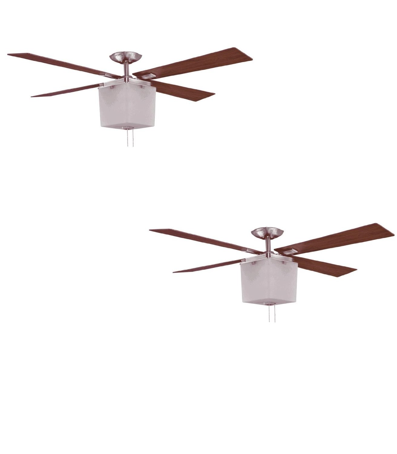 Buy Set Of Two No Lp8130lbn Le Marche 56 In Brushed Nickel Downrod Mount Ceiling Fan With