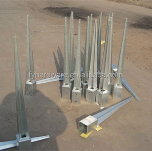 Carbon Steel Galvanized Fence Spike Pole Anchor For Wood Post