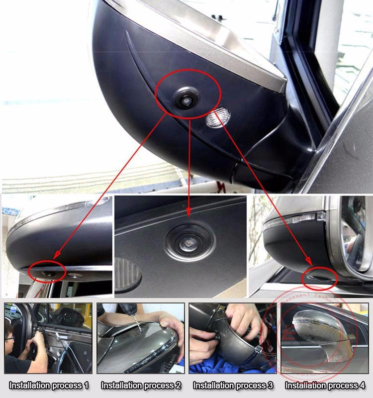 wholesale volume supply 4pcs hidden 360 degree car camera with bird view parking system buy. Black Bedroom Furniture Sets. Home Design Ideas