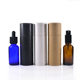 New Design Handmade Recycle Customized 30ml matte white black glass dropper bottle with paper tube