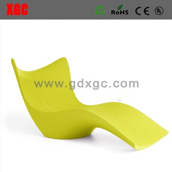 outdoor plastic bench chair sun lounge chair plastic garden sofa furniture