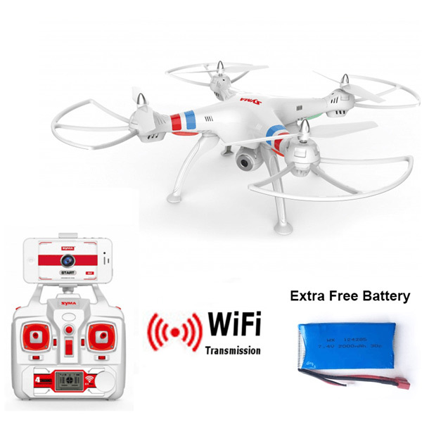 Syma X8W Explorers WiFi FPV Drone Headless Mode RC Quadcopter With Camera RTF