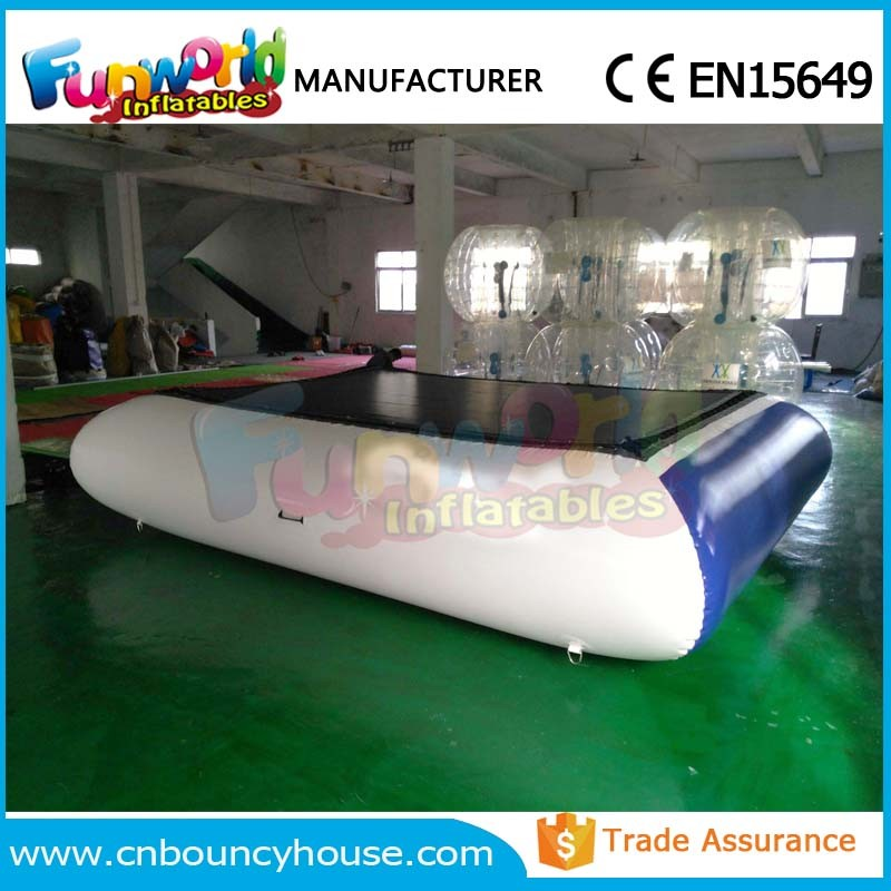 Square inflatable water trampoline lake inflatables water games