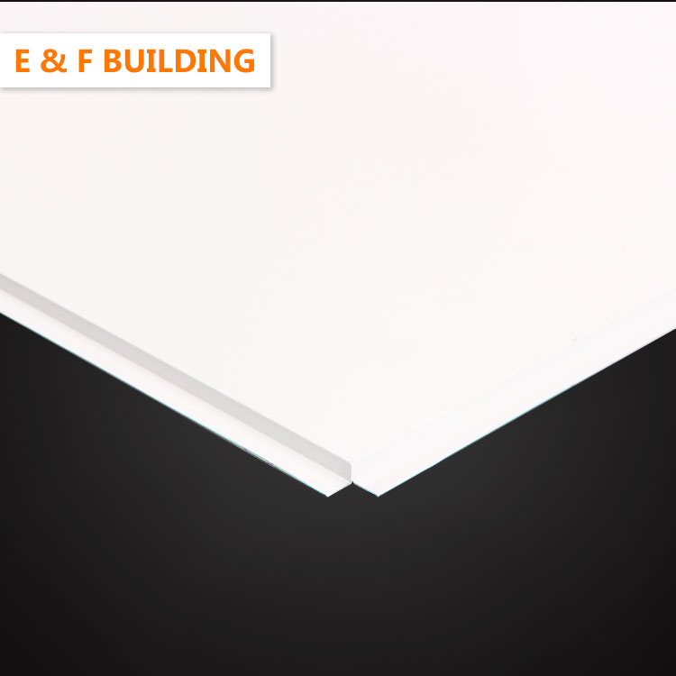 Aluminum lay in ceiling tiles for commerical ceiling systems 600*600mm non perforated metal ceilings tiles