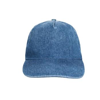 China Wholesale Plain Denim Man Jean Baseball Cap Leather Back Cap ... 6fe7af35ae5
