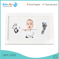 Baby first year souvenir - funny 13 windows newborn baby collage photo / wood picture frame