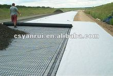 Geotextile fabric for highway with drainage property