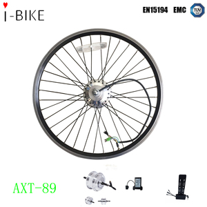 24v/36v/48v 250w/350w bldc geared hub motor controller hidden ebike conversion kit with rack battery