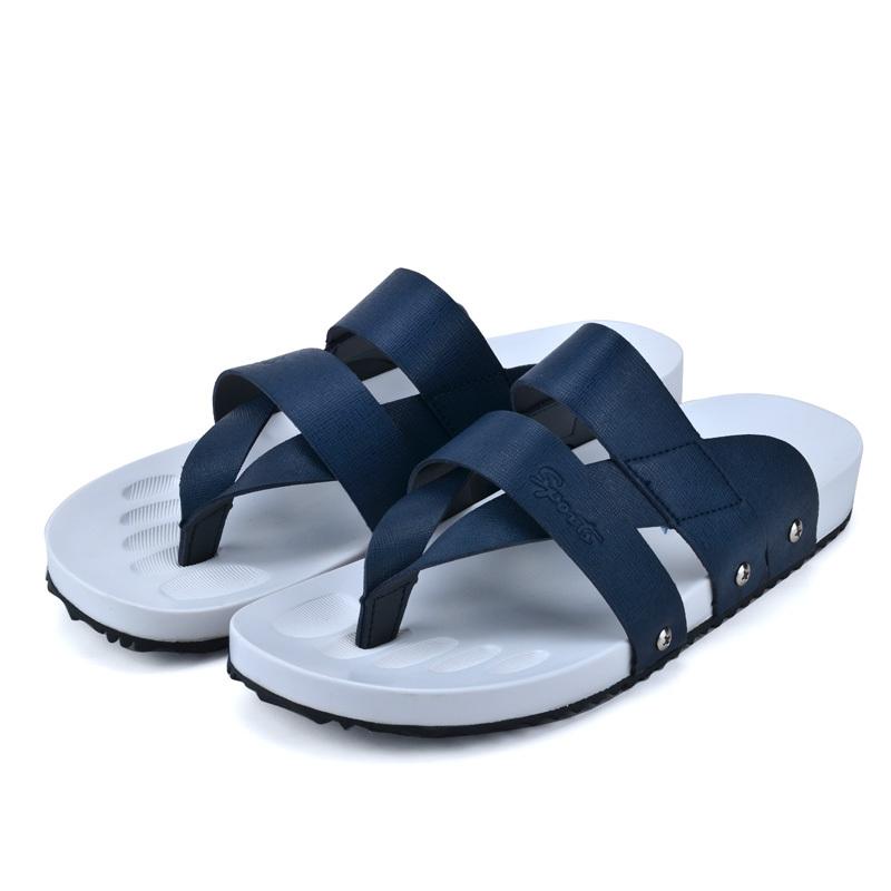 7cf134328a3446 Get Quotations · Summer Men Beach Shoes Casual Flat With Flip Flops Men  Solid Beach Sandals Leisure Men Flip