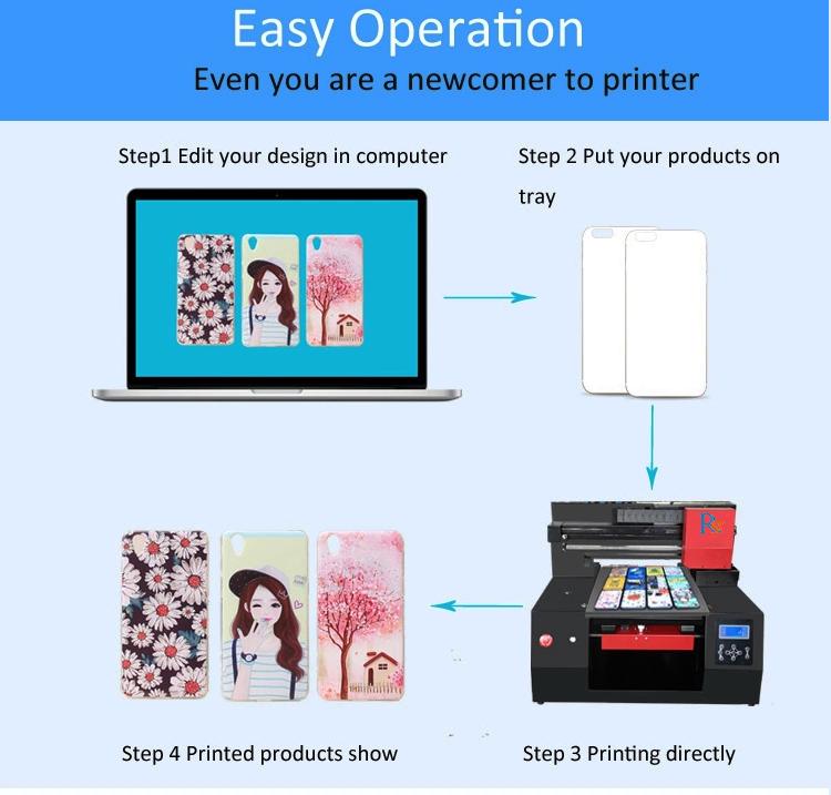 Refinecolor Afdrukken op elk oppervlak digitale hout A3 uv flatbed printer met fabriek prijs