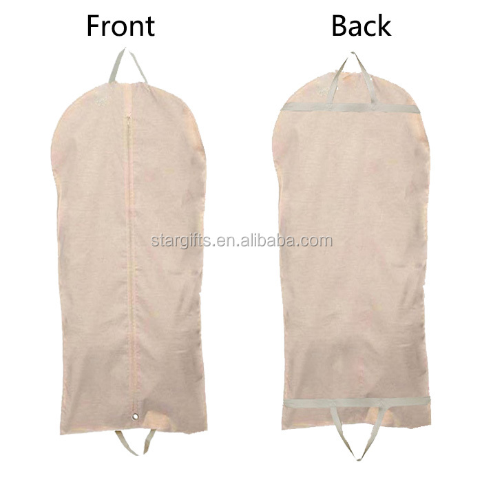 Premium Quality Garment Bag Protection For Clothes Canvas Dustproof Suit Cover For Travel