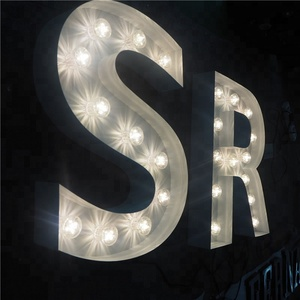custom waterproof free standing led marquee lettr sign for wedding decoration