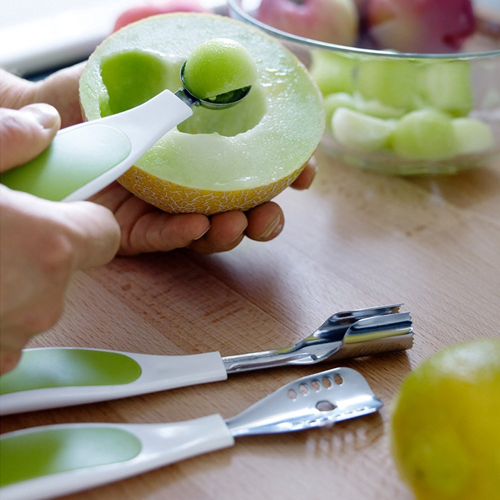 XDOBO® Set of Fruit Carving Knife Handle Carving Stainless steel, Beautiful Design and High Quality, Set of 3.