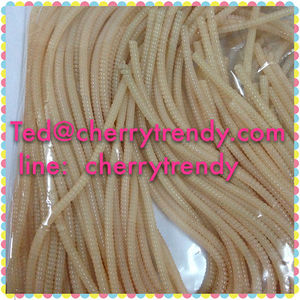 Mini 4mm Jelly Pink Telephone Wire Hair Band 50cm Line Elastic Hair Bands