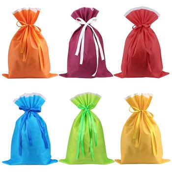 Large Party Favor Bags with Drawstring for Gift Candy Goody Storage Non Woven Drawstring Bag
